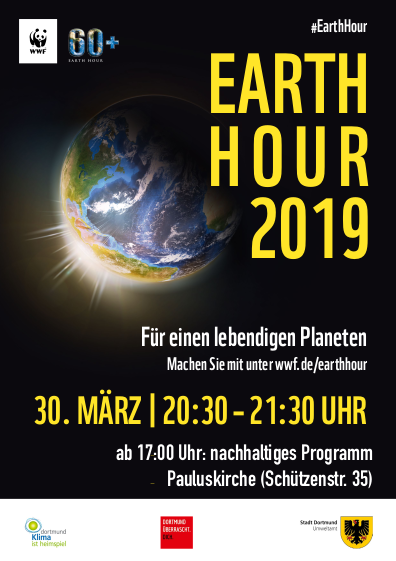 WWF Earth Hour 2019 - Pauluskirche - Plakat